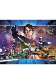 Star Wars Wojny Klonów Landscape - plakat