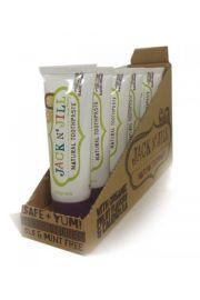 Jack N'Jill, Naturalna Pasta do zębów, organiczna czarna porzeczka i Xylitol, 50g - KARTON, 6 szt.