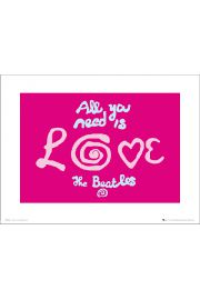 The Beatles All You Need Is Love - art print