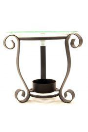 Metalowa podstawka pod świeczki na 3 nogach na okrągłej podstawi