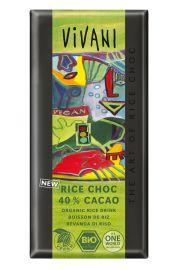 Czekolada Vegan (Na Napoju Ry�owym) 40% Kakao Bio 100 G - Vivani