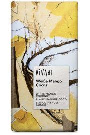 Czekolada Bia�a Mango Kokosowo-Jogurtowa Bio 100 G - Vivani