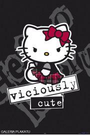 Hello Kitty Zaciekła i Urocza - plakat