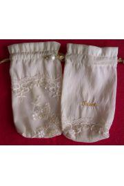 Kremowy woreczek na karty z haftem Tarot