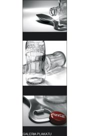 Coca-Cola - Butelka i Otwieracz - plakat