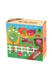 Mudpuppy, Puzzle Jumbo 25 elementów Farma