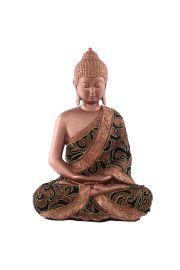 Du�y tajski siedz�cy Budda - br�z i z�oto