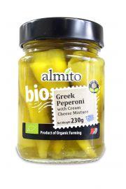Papryczki Zielone Peperoni Pikantne Z Serem Bio 230 G - Almito