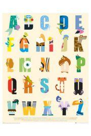 Disney Alfabet / Literki - plakat