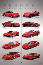 Ferrari Samochody Marzeń - plakat