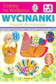 Ozdoby na Wielkanoc wycinanki pomysły dla maluchów 4-6 lat