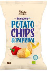 Chipsy Ziemniaczane O Smaku Paprykowym Bio 125 G - Trafo