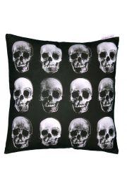 Poduszka z wypenieniem 40 x 40cm - Czarno-biała Czaszka