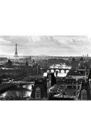 Paryż Panorama - Sekwana i Wieża Eiffla - plakat