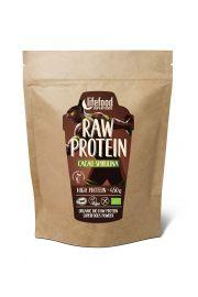 Białko Roślinne Z Kakao I Spiruliną Raw Bezglutenowe Bio 450 G - Lifefood