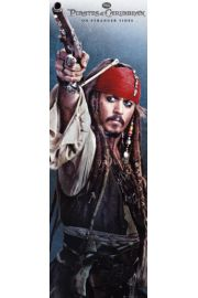 Piraci z Karaibów Jack Sparrow z Pistoletem - plakat