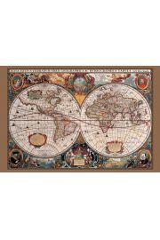 Antyczna Mapa Świata - plakat