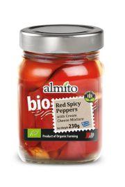 Papryczki Czerwone Pikantne Z Serem Bio 230 G - Almito
