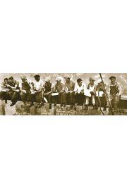 Nowy Jork - Robotnicy sepia - plakat