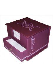 Pudełko z pogańskim symbolem z karteczkami do notatek