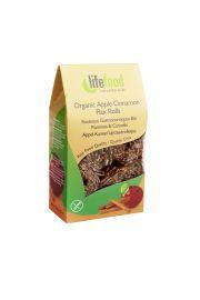 Rollsy Z Lnu Jabłkowo - Cynamonowe Raw Bezglutenowe Bio 80 G - Lifefood