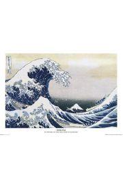 Japonia - Hokusai Great Wave - plakat