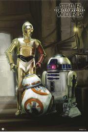 Star Wars Gwiezdne Wojny Przebudzenie Mocy Droidy - plakat