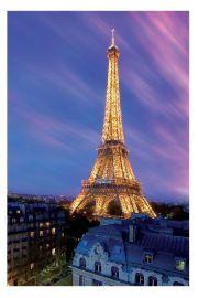 Paryż Wieża Eiffla o Zachodzie Słońca - plakat