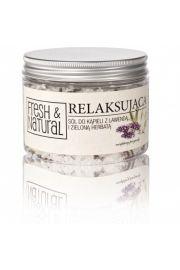 Fresh AND Natural, RELAKSUJĄCA sól do kąpieli z lawendą i zieloną herbatą, 500g