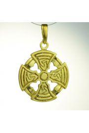 Krzyż celtycki okrągły, pozłacany