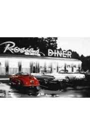 Rosie's Diner Cadillac - retro plakat