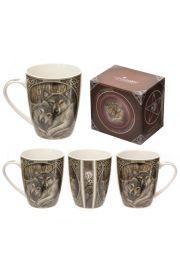 Kubek z porcelany z grafiką Lisy Parker: Wilki
