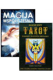 Zestaw 2 książek: Magija współczesna i Magiczny Tarot Zakonu Złotego Brzasku + Karty