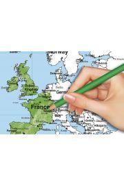Twoje Podróże Mapa Świata Zamaluj odwiedzone Państwa - plakat