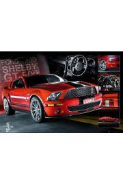 Czerwony Ford Mustang Shelby GT500 - plakat