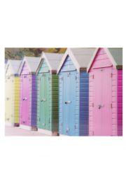 Obraz 3D Kolorowe Domki Plażowe
