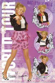 Miley Cyrus Hannah Montana Trasa Koncertowa - plakat