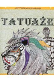 Antystresowa kolorowanka dla dorosłych. Tatuaże
