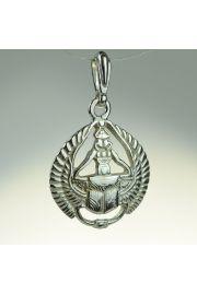 Skarabeusz ze skrzydłami, srebro