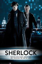 Sherlock Heroes Dont Exist - plakat
