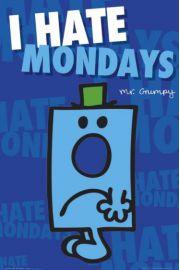MR Men Nie Lubię Poniedziałków - plakat