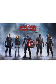 Kapitan Ameryka Wojna Bohaterów Drużyna Kapitana Ameryki - plakat