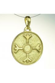 Amulet Ochronny Algiz, pozłacany