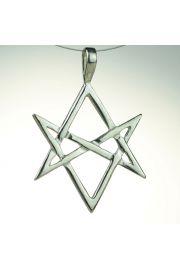 Heksagram unikursalny, srebro