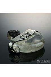 Kryształ z turmalinem, wisior