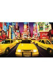 Nowy Jork Times Square Taksówki - plakat