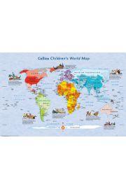 Dziecięca Mapa Świata - plakat