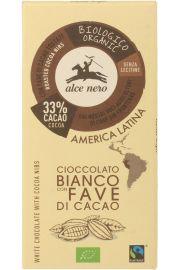 Czekolada Biała Z Kawałkami Kakao Fair Trade Bio 100 G - Alce Nero