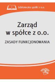 Zarząd w spółce z o.o.