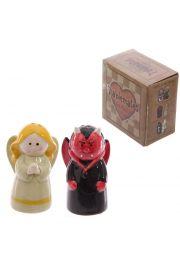 Solniczka i pieprzniczka - anioł i diabeł